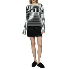 A Line Mini Skirt, Mini Skirts, Sailor Pants, Wardrobe Basics, Maje, Winter Looks, Winter Wardrobe, Rib Knit, Slogan