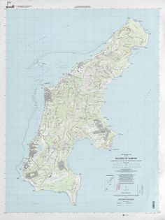 1999 USGS topographic map of Saipan Island (Northern Mariana Islands)
