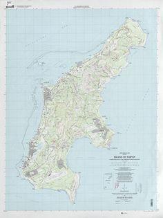 1999 USGS topographic map of Saipan Island (Northern Mariana Islands)