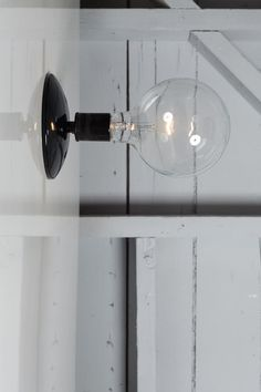 This Custom Made to Order Industrial Wall Light comes with -Ceramic Socket in Black or White (250V Max) -Black or White Ceiling Canopy Can be