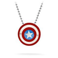 Captain America Shield Necklace
