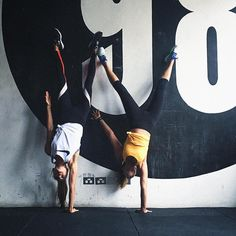 "Bianca Cheah-Chalmers on Instagram: ""Battle of the one handed handstand with @kirstygodso and who could hold the longest. Of course she won (These are harder than they look )"""