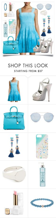 """Seamed Sleeveless Dress..**"" by yagna ❤ liked on Polyvore featuring Diane Von Furstenberg, Yves Saint Laurent, Hermès, Quay, Elizabeth Cole, Gray Malin, Eddie Borgo, Sisley, Guerlain and Sydney Evan"