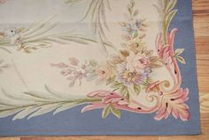 Antique Aubusson French Carpet   From a unique collection of antique and modern western european rugs at https://www.1stdibs.com/furniture/rugs-carpets/western-european-rugs/