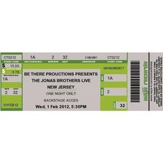 Concert Ticket Maker ❤ liked on Polyvore featuring home, kitchen & dining and tickets