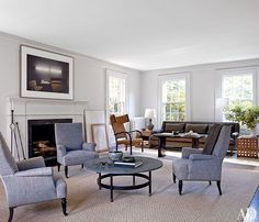 Francisco Costa's Long Island home; interiors by Mark Cunningham