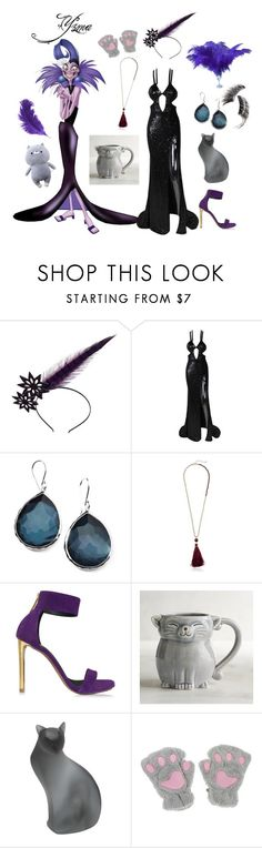 """Yzma"" by coloradocutie ❤ liked on Polyvore featuring Maggie Mowbray Millinery, Ippolita, Kate Spade, Roberto Cavalli, Pier 1 Imports, Daum and Beauty Is Life"