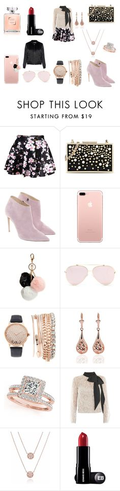 """Untitled #8"" by raven-lilith-ackerman on Polyvore featuring Karl Lagerfeld, Ralph Lauren, GUESS, Jessica Carlyle, Allurez, Victor Xenia and Glamorous"