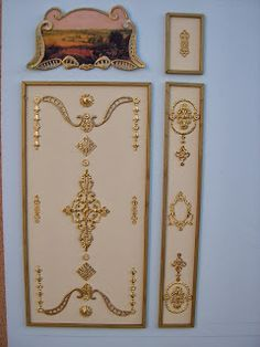 elpalaciodemiprincesa.blogspot.com - making intricate wall reliefs
