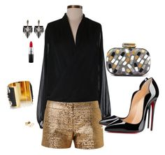"""""""Caroeliv4"""" by carolina-elivo on Polyvore featuring moda, Neiman Marcus, Lanvin, Sarah's Bag, MAC Cosmetics, Lulu Frost, Pieces, HIRSCHELL, Christian Louboutin y women's clothing"""