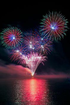 Kunstwerk: 'Vuurwerk' van Fotografie Arthur van Leeuwen Best Fireworks, Fireworks Show, Fire Works, Hanabi, New Year 2020, Winter Landscape, Around The Worlds, Bullet Journal, Colours