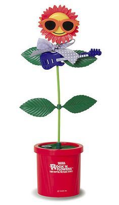 A flower that danced when you play music.