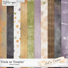 #TrickorTreatin Messy Papers aren't just for Halloween pages.  A mixture of stars and grunge and splats sets will set the stage for any fun layout.  Only $1 through Monday 10/19 at #PickleberryPop #LouceeCreations
