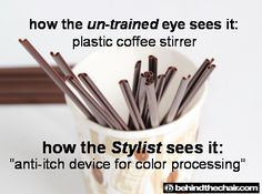 Coffee stirrer - translation   http://www.behindthechair.com/
