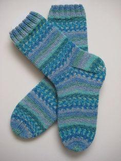 RP blue hand knit womens wool socks UK 57 US 79 by sockysocks