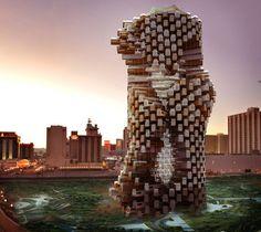 Mateo Rosenberg ha desarrollado una idea de edificio de uso mixto (apartamentos y oficinas) que está resuelto con módulos de contenedores usados de 40 pies.