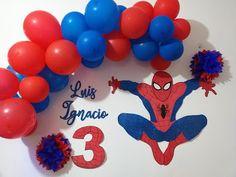 Red Birthday Party, Sofia The First Birthday Party, Birthday Themes For Boys, Superhero Birthday Party, Birthday Balloons, 3rd Birthday, Happy Birthday Spiderman, Spiderman Theme Party, Superhero Party Decorations