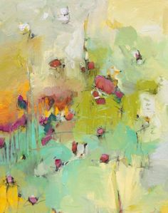 Abstract Peonies 24x30 $860 - Jill Van Sickle