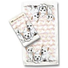 West Highland White Terrier (Westie) Kitchen Towel  by Fiddler's Elbow #westie #teatowel
