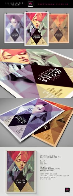 12 minimalistic & clean party & event flyer templates