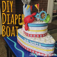 A tutorial to make your own diaper boat!
