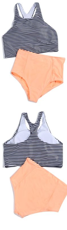 Wonderful beach time with  the fresh swimsuit .More cute pieces at WealFeel.COM