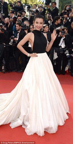 Standing out: Indian star Mallika Sherawat and Chinese actress and singer Li Bing Bing bot...