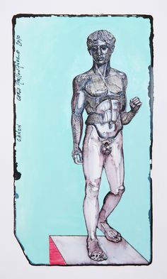 Chris F: CANON   (watercolour and ink on paper)