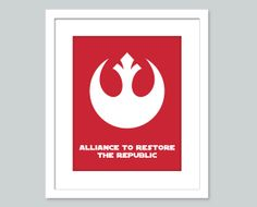 Star Wars Nursery Art   8x10 nursery poster  Rebel by Wallerbee, $15.00