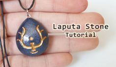 DIY Castle in the Sky Laputa Stone Necklace Polymer Clay Tutorial - YouTube