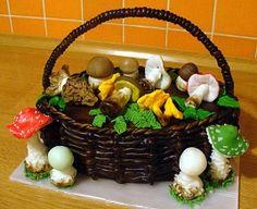 košík s houbama