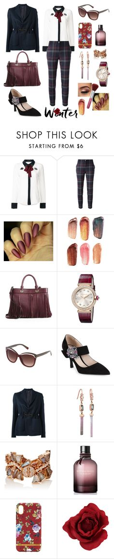 """""""WINTER ROSE"""" by difracceliglo ❤ liked on Polyvore featuring Markus Lupfer, Pinko, Bite, Milly, Bulgari, Furla, Prada, Jil Sander Navy, Celine Daoust and Nak Armstrong"""