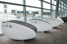 GoSleep- Sleeping Pods.  Only one question: could you get locked in to these things accidentally? http://exploretraveler.com http://exploretraveler.net
