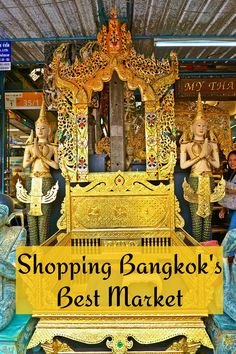In Bangkok, Thailand you'll love shopping Chatuchak market for souvenirs, antiques, cute dresses, home goods and artisan crafts.
