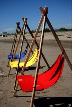 Diy Furniture Outdoor Patio Chairs - New ideas Folding Furniture, Bamboo Furniture, Diy Outdoor Furniture, Pallet Furniture, Garden Furniture, Furniture Design, Beach Chairs, Patio Chairs, Diy Wood Projects