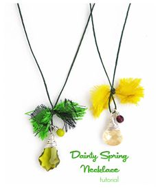Erin Siegel Jewelry: Dainty Spring Necklace TUTORIAL