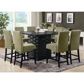 Found it at Wayfair - Brownville Counter Height Dining Table in Rich Black