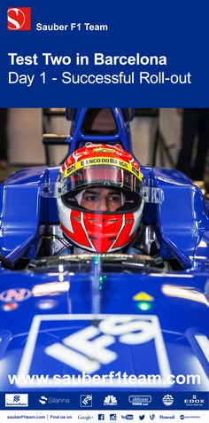 ef34d6e012d2 Felipe Nasr ends day 1 of the second test in Barcelona on P9 with 103 laps