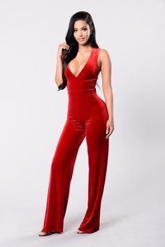 757ec59acf82c Take Me Higher Jumpsuit - Red. Fashion Nova ...