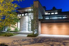 Custom Modern Home in West Vancouver, British Columbia, Canada Grey Exterior, Exterior Design, Custom Home Designs, Custom Homes, British Columbia, Canada, Home Wall Painting, Fence Painting, Vancouver House