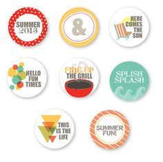 Freebie Fridays- summer tags. Gosh I love circle flairs, so cute and work so well in my PL spreads