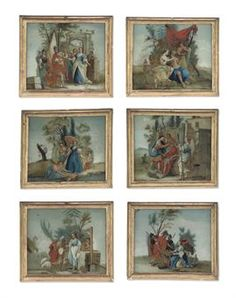 A SET OF SIX ITALIAN REVERSE-GLASS PAINTINGS  LATE 18TH-FIRST HALF 19TH CENTURYhttp://www.christies.com/
