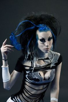 Mixture of Cybergoth and Deathrock