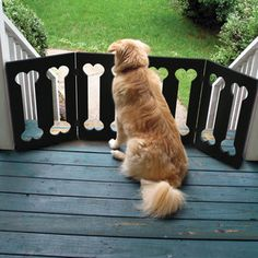 Wooden Pet Gate Bone Design