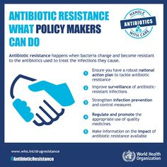 Antibiotic Resistance What Policy Makers Can Do, WHO