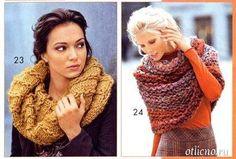 knitting, knitting for women, knitted scarves scheme