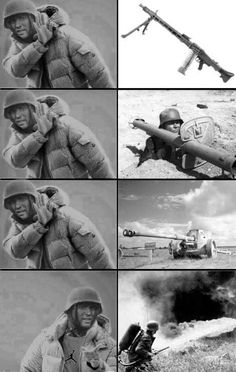 History Discover Hans get the Panzerschreck! Military Jokes Army Humor Stupid Funny Memes Hilarious Excuse Moi History Jokes Russian Memes All The Things Meme Apocalypse Military Jokes, Army Humor, Army Memes, Dankest Memes, Stupid Funny Memes, Funny Relatable Memes, Best Funny Pictures, Funny Photos, Foto Fails