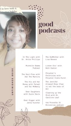 Here are some of my favorite podcasts to listen to for inspiration and encouragement.