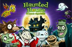 Haunted House Pop-Up Activity Book is a fun Halloween app for kids