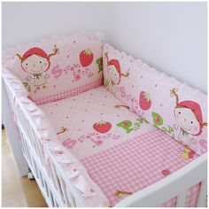 42.80$  Watch now - http://ali2m4.shopchina.info/go.php?t=32321870631 - Promotion! 6PCS Baby Cot Crib Bedding Set Kit Comforter Bumper Fitted Sheet (bumper+sheet+pillow cover) 42.80$ #bestbuy